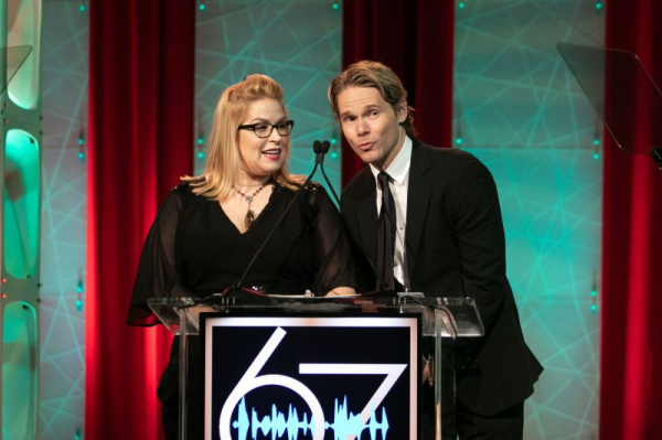 Presenting an award at the 67th Annual Motion Picture Effects award show.