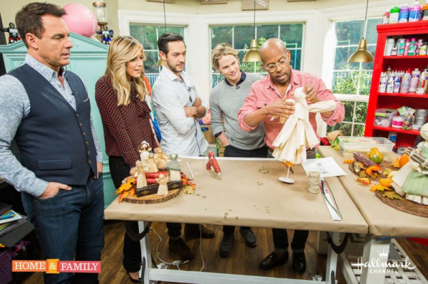 """A guest on Hallmark's """"Home and Family."""""""
