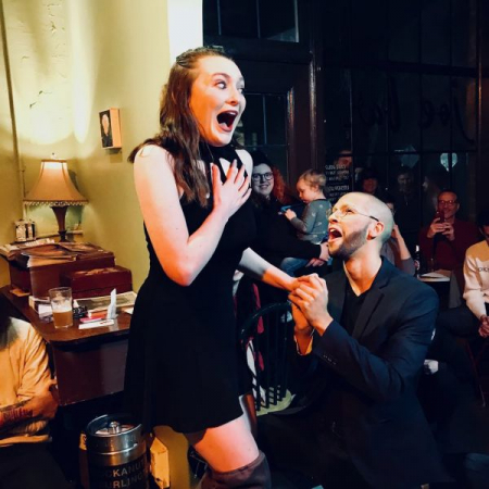 Performing a comedic piece at the Valentines Day Tiny Dances at Joe Bar, Seattle, 2018.  This was one of my favorite performances to date.