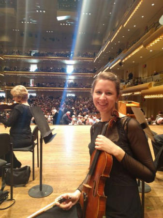 onstage at Lincoln Center