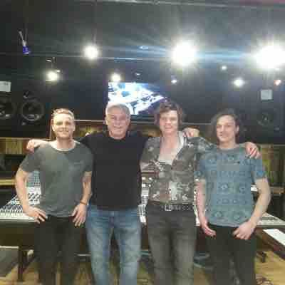 Recording at the world-renowned Blackbird studios with the owner, John McBride.