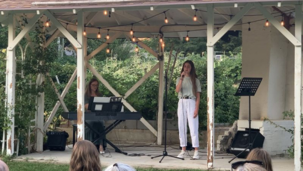 """Student performing """"I Still Believe"""" from Miss Saigon at our outdoor concert August 2020."""