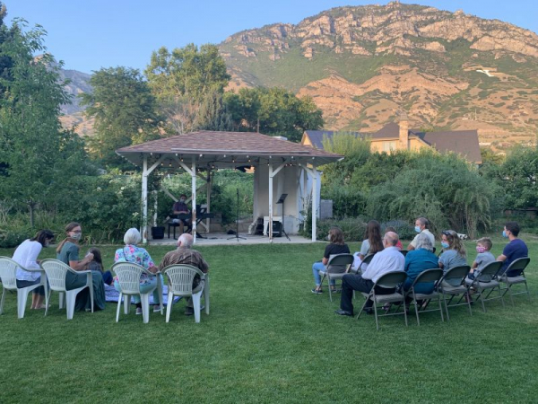 Gorgeous backdrop of our August 2020 outdoor concert.