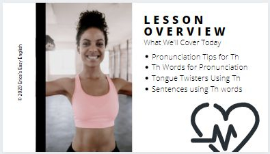 Sample lesson overview for pronunciation