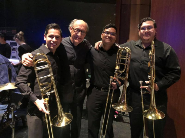 Trombone Section and Conductor of UNM Orchestra