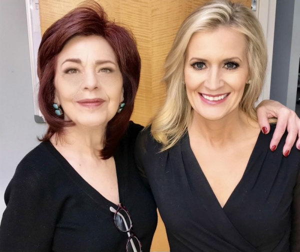 Megan Mawicke Former Sportscaster at CBS News Chicago with me. I taught Megan so that she could do her own makeup when I was not there.