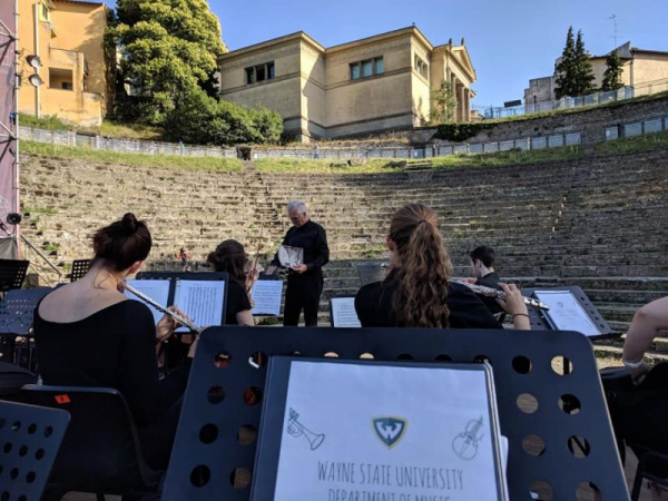Performing with Wayne State University in Italy