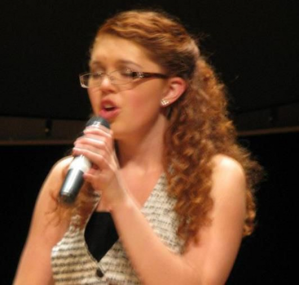 Close up of me singing