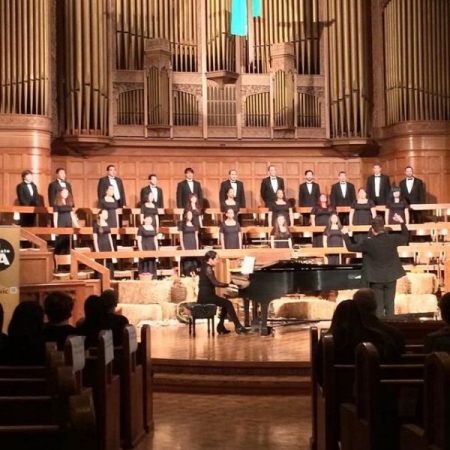 Me singing with the CSULA Chamber Singers