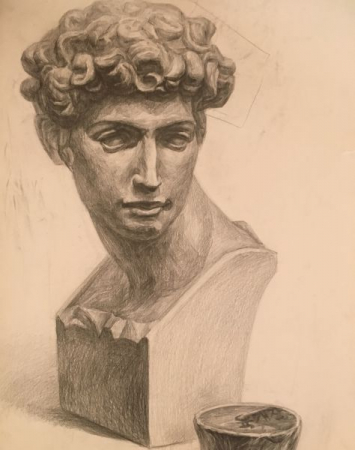 Julian statue / Pencil drawing on paper