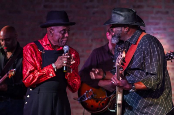 On Stage with my band and The Legend, Mr. Buddy Guy