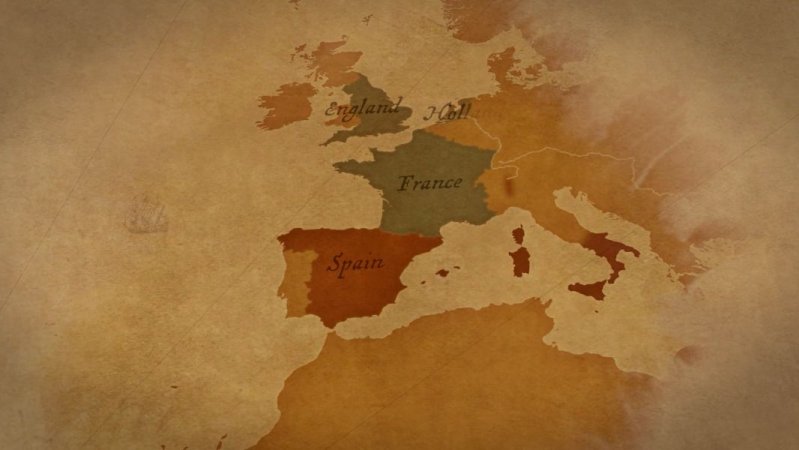 Historic map animation showing old empires vying for power
