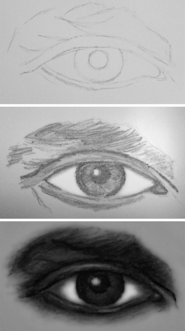 How to draw an eye (charcoal on paper)