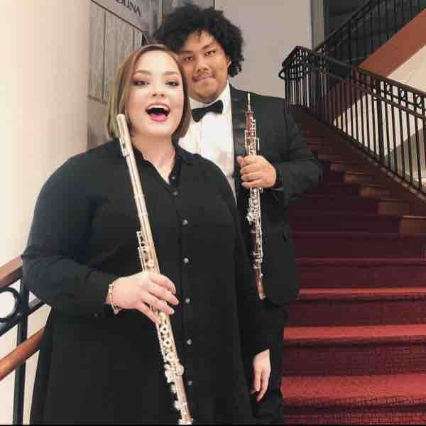 Me and my flutist friend!