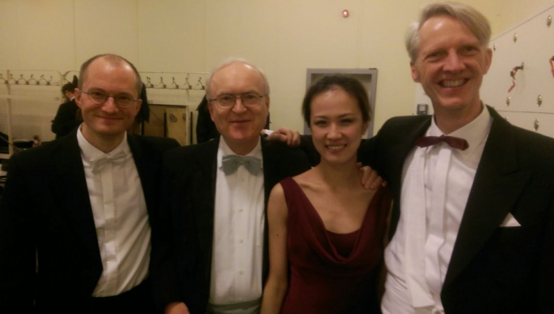 Backstage with Colleagues