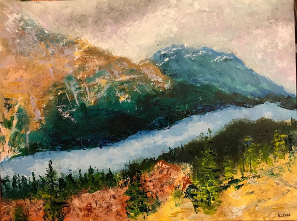 Abstract Landscape - River Valley