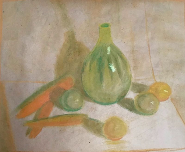 Student work (14 y.o.) Oil Pastel on paper