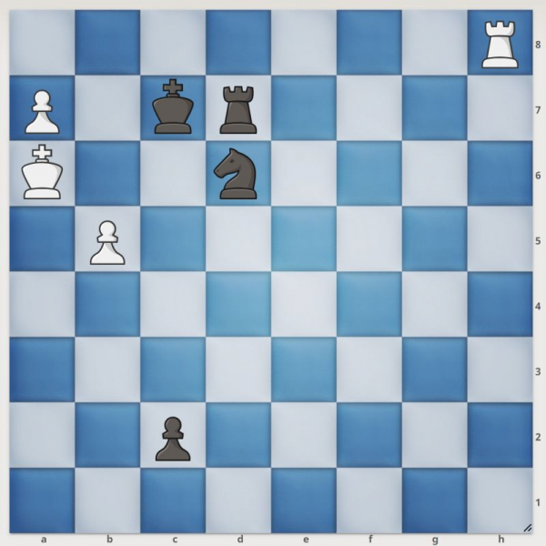 How does white checkmate black in one move?