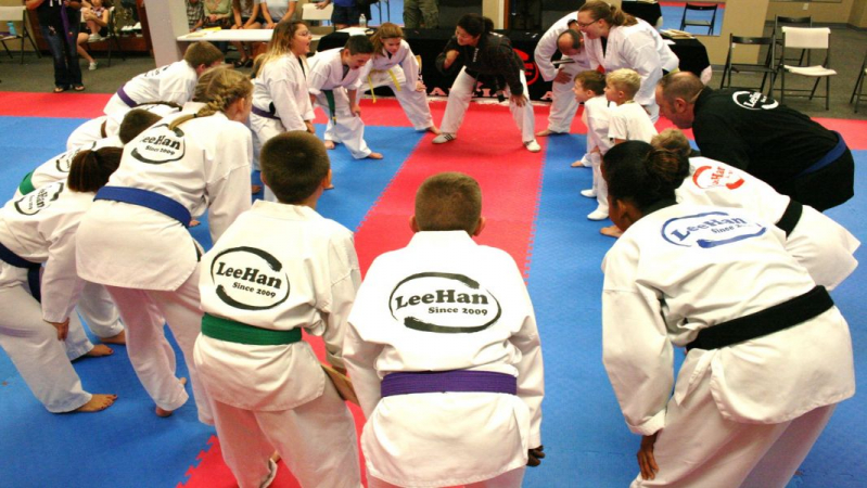 Students of the LeeHan Martial Arts Academy
