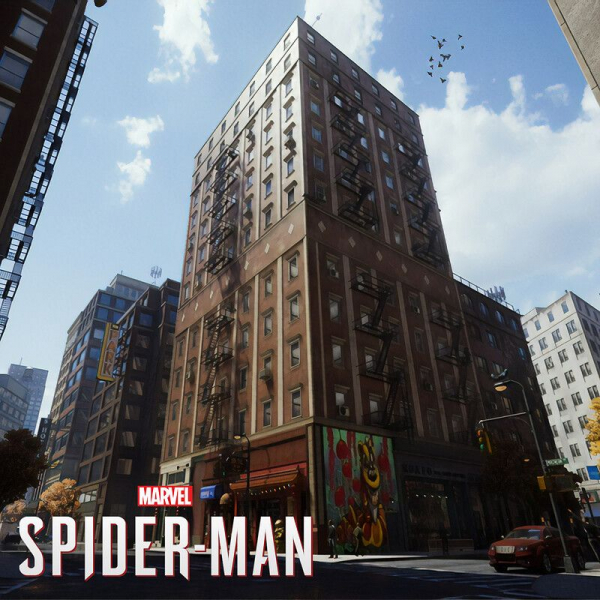 Area tiles I set dressed for Chinatown and Harlem in Marvel's Spider Man PS4. Responsible for building construction and set dressing.