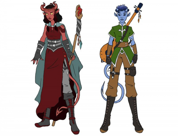 Original Tiefling Characters for D&D, Adobe Photoshop, 2020