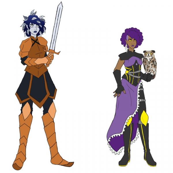 Original Aasimar Characters for D&D, Adobe Photoshop, 2020