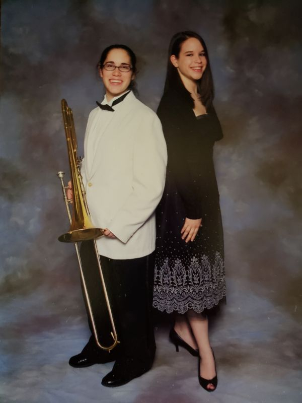 High school jazz band photo.