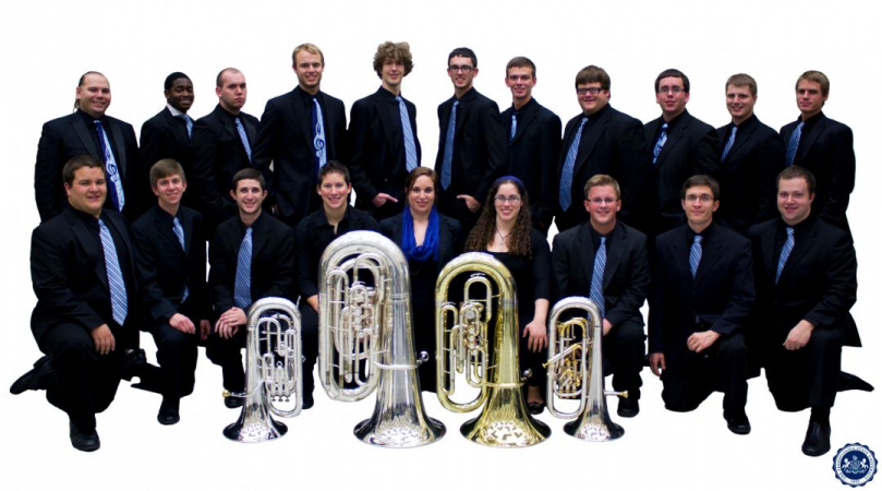 The tuba euphonium studio while I was a student at Penn State.