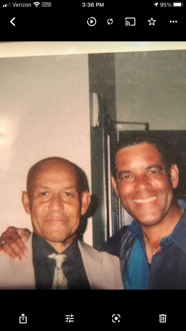 Eddie Henderson (left) & me. I learned a lot from the legendary jazz trumpeter.