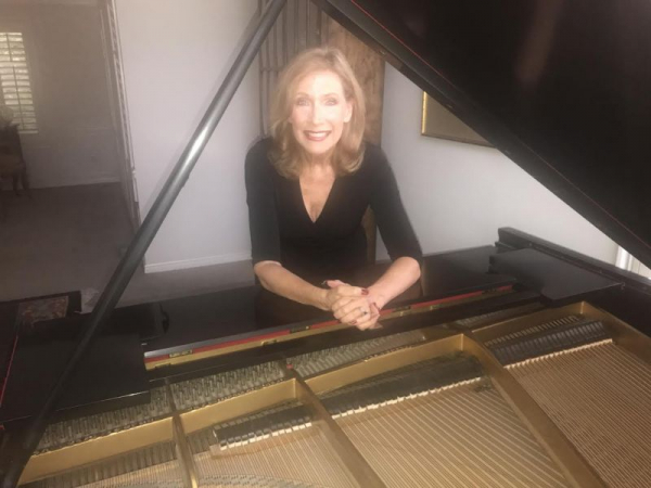 Cherilyn and her Steinway