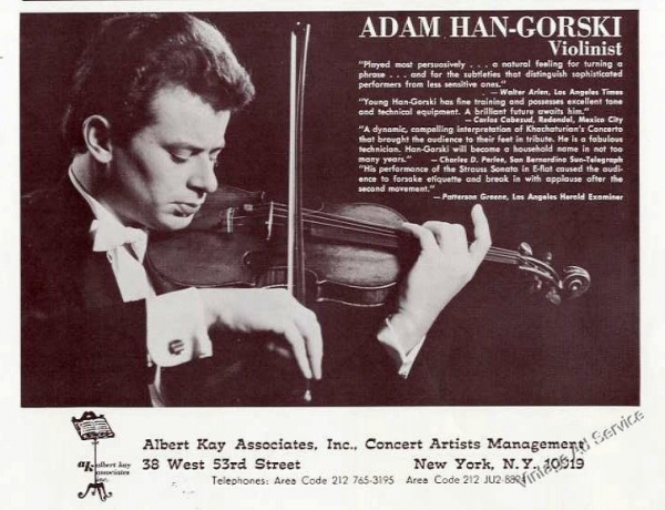Flyer from New York Lincoln Center debut 1966