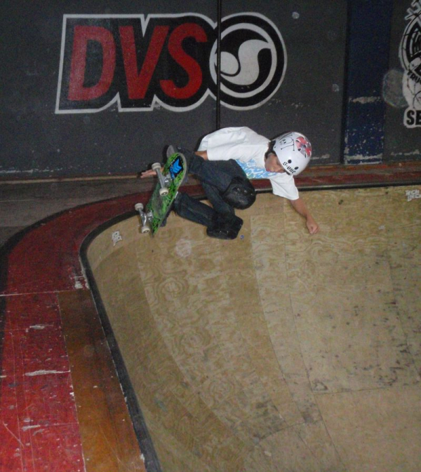 Blasting a Backside Air when I was about 12 years old