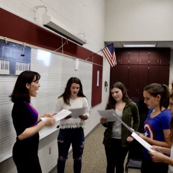 Teaching a vocal performance workshop in Pennsylvania