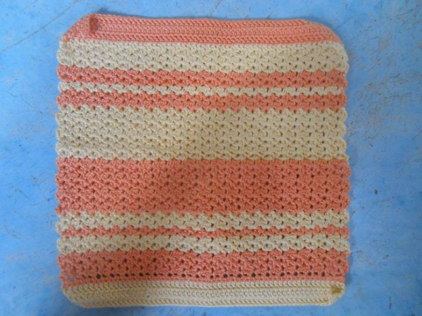 A dishcloth I designed and made with crochet thread.