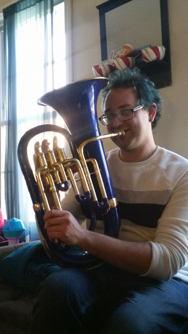 Me and my new Euphonium! I am so excited to finally own one!