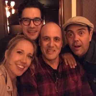 Out with my Here Awhile cast. Anna Camp, Joe Lo Truglio, and Steven Strait.