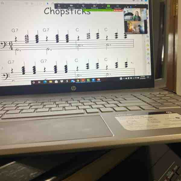 Screen sharing during lessons is essential and a great way to annotate music.