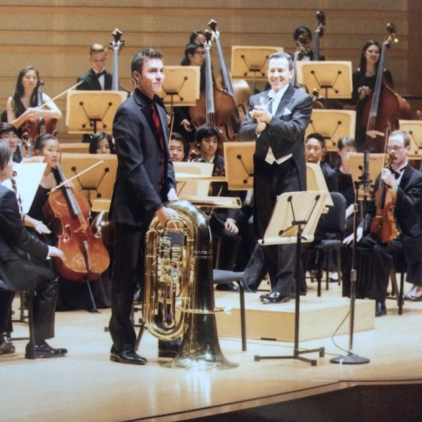 Performing the Vaughan-Williams Tuba Concerto.