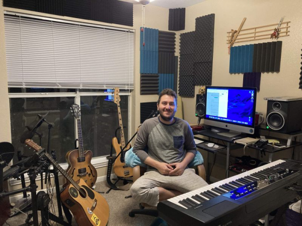 Home studio where I record, teach and write all forms of music and sound!
