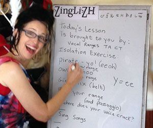Me teaching a class back when I did this in person instead of on-line.