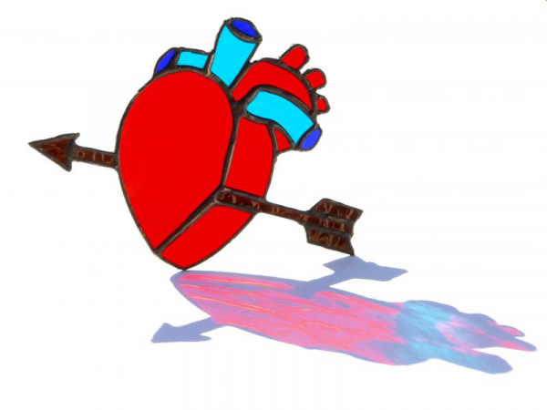 Stained glass Anatomical Heart