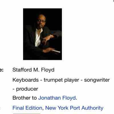 My main Piano teacher, musical mentor, songwriter and producer of The Supremes and The Temptations Motown songwriter, Stafford Floyd