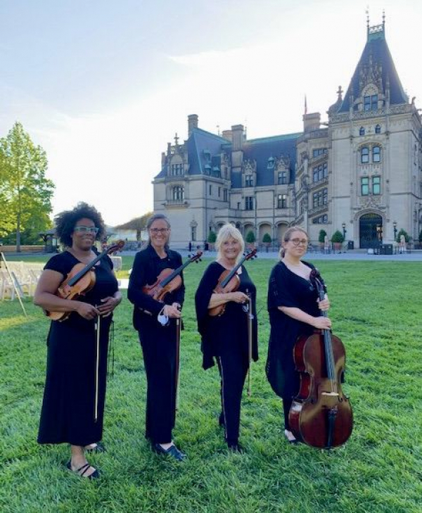 Biltmore House wedding gig with the Nelson quartet