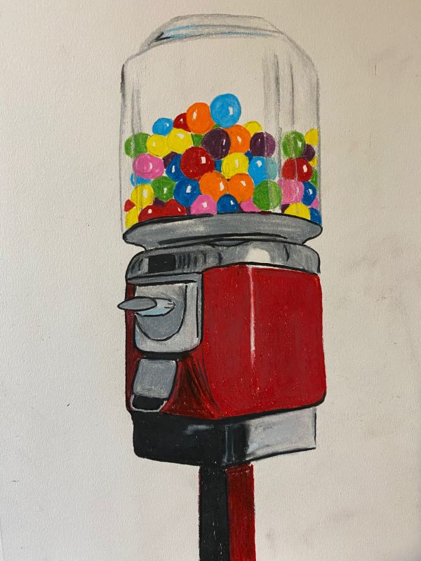 Gumball Machine Colored Pencil for Instruction