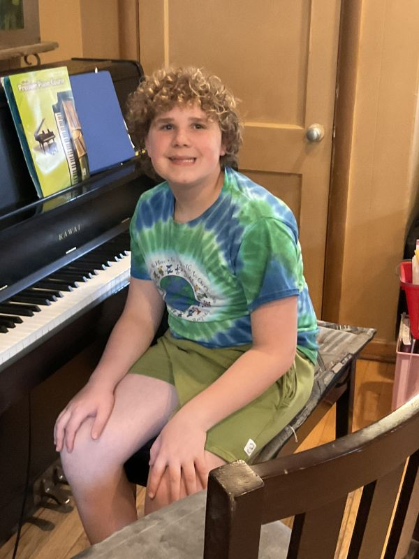 Liam's first lesson back in the studio after 16 months of covid virtual !!!  Who hooo