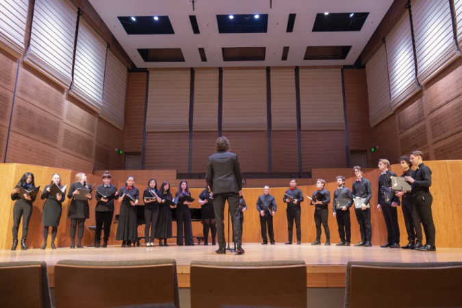 """Mouthscape choir singing my piece, """"Lullabye"""".  Singing has taught me so much about music, and it makes me a better teacher."""