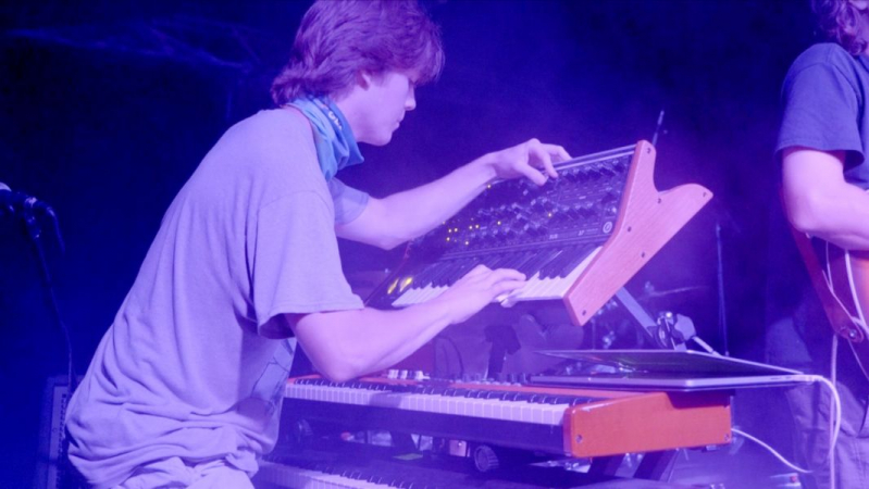 Playing my Moog Subsequent 37 synthesizer at a gig in Chattanooga, TN.