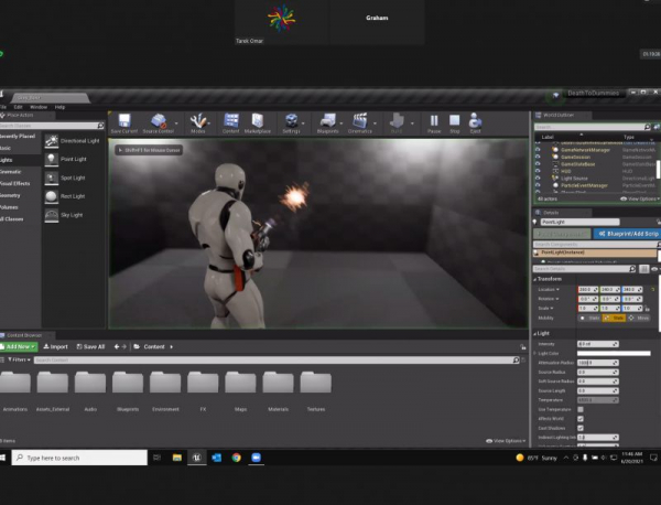 First person shooter game in development by one of my 11 years old students using Unreal Engine 4
