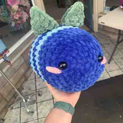 Blueberry bee! Made from sweet snuggles yarn