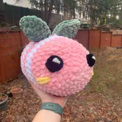 Strawberry bee! Made from sweet snuggles yarn